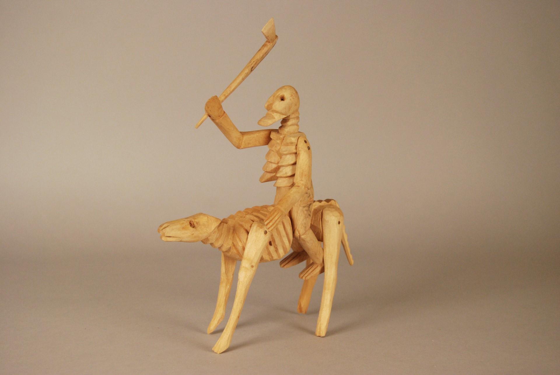 Skeleton With Ax On Skeleton Horse Folk Art Oaxaca
